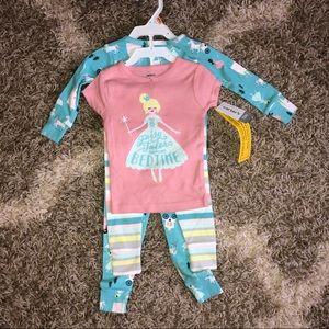 Carters 4-pc Princess Pajama Set 12 Months ~New~